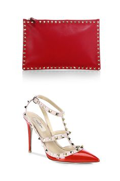 Red, the color of passion. Find yours with shoes & bags from Valentino.