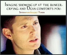 ((I need someone to be dean. Her names brenna)) I had just watched my older brother be killed by a werewolf. He was the only family I had left. I went running to the bunker where I knew Sam and dean lived. Supernatural Bloopers, Supernatural Imagines, Supernatural Funny, Supernatural Fanfiction, Supernatural Tattoo, Supernatural Wallpaper, Jensen Ackles, Old Love, Tied Up