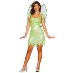 Disfraz de Hada Verde Campanilla Adulto #carnaval #novedades2016
