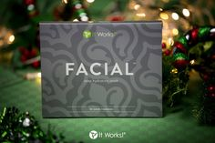 Our Facial is the gift that keeps on giving! You can tighten, tone, and firm to give your face a lift in as little as 45 minutes! May your face be merry and bright! #skincare