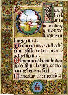 Psalter 1527-29 Manuscript (Ms. 600, 597, 2 volumes) Biblioteca Classense, Ravenna