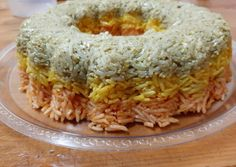 Ρύζι τριχρωμο συνταγή από Xenia Arsiotou - Cookpad Rice Recipes, Grains, Food, Essen, Yemek, Meals