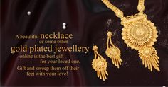 A beautiful necklace or some other gold plated jewellery online is the best gift for your loved one. Gift and sweep them off their feet with your love! Gold Plated Necklace, Necklace Designs, Beautiful Necklaces, Jewelry Collection, Crochet Earrings, Best Gifts, Pride, Jewellery, Jewels