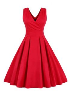 GET $50 NOW | Join RoseGal: Get YOUR $50 NOW!http://www.rosegal.com/vintage-dresses/retro-back-bowtie-sleeveless-midi-690857.html?seid=6885777rg690857