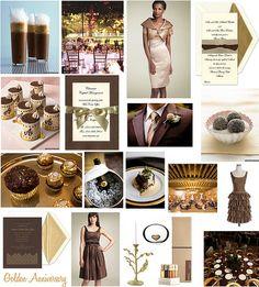 Gold / Brown Wedding Inspiration Board