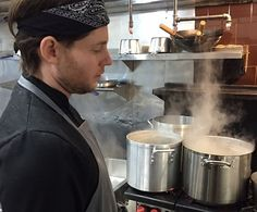 McCoy is making all his curry pastes from scratch at Alfie's, his Northeastern Thai pop-up on Georgia Avenue NW. (Tim Carman/The Washington Post)