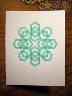 Greeting card by fortress letterpress, via Flickr