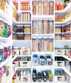Inside The Home Edit s Pantry Makeover for Khloe Kardashian Pantry Organisation, Kitchen Pantry Design, Kitchen Organization Pantry, Storage Organization, Organized Pantry, Pantry Ideas, Kitchen Storage, Kitchen Ideas, Pantry Shelving