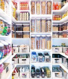 Inside The Home Edit s Pantry Makeover for Khloe Kardashian Pantry Organisation, Kitchen Pantry Design, Kitchen Organization Pantry, Kitchen Storage, Organized Pantry, Pantry Ideas, Organization Ideas, Kitchen Ideas, Diy Storage