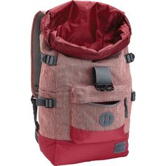 Nixon Swamis Rolltop Backpack | Crimson
