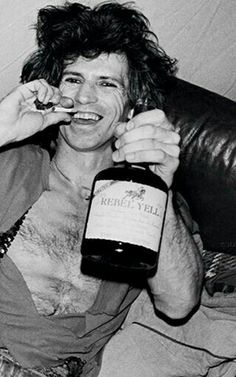 Keith Richards with Rebel Yell in 1981