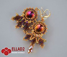 Beading Tutorial for Cleo Earrings is very detailed, easy to follow, step by step, with clear beading instructions and with color photos of each step.