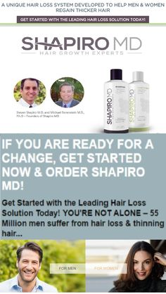 Shapiro MD's hair loss solution is a patented formula that contains 3 of the most potent DHT blockers ever discovered. DHT is widely believed to be the root cause of hair loss. Clinical studies have shown that blocking DHT can slow hair loss.