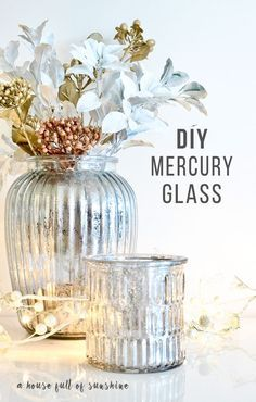 DIY faux mercury glass tutorial - so easy and simply gorgeous! What a beautiful idea for a Christmas table centrepiece. | A house full of sunshine