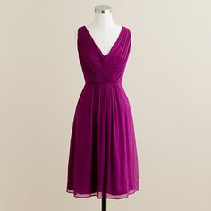 Just bought my bridesmaid dress {J. Crew's Louisa Dress in Silk Chiffon} for my friend's wedding.  So happy I waited for a Thanksgiving Sale.  [25% off & FREE Shipping on orders of $150+.  Code:  YOURGIFT.]  I got it only for $168.75!