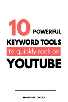 If you are wondering how to find youtube keywords then use these youtube keyword tools to find best ideas to rank fast. Check It Out ! #keywordtools #YouTubeKeywordTools #RankonYouTube #YouTubers #SEO #SEOtools Youtube Tags, You Youtube, Youtube Trending, Keyword Ranking, Making Youtube Videos, Seo Software, Keyword Planner, Seo For Beginners, Youtube Search