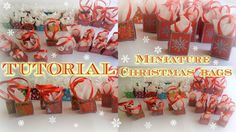 Tutorial : how to make miniature Christmas bags for dolls