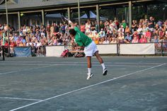 Watch the pros play at our weekly tennis exhibition  Via Palmetto Dunes…