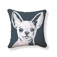 Chihuahua 18x18 Gray