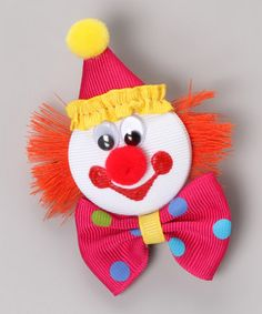Pink Clown Character Clip