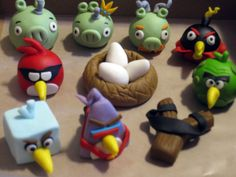 Angry Birds Space Cupcake Toppers