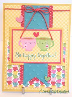 Doodlebug design Cream & Sugar card So happy together - Scrapbook.com #doodlebugdesign #cream&sugar