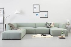 banking scandinavisch whkmps own hoekbank links Town VII, Mint Bench Furniture, Cool Furniture, Ikea Stuva, Dorm Walls, Lounge, Villa, Living Room, Interior Design, Home Decor