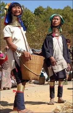 the image above is for women of Burma, where tribes women   there boast with their long necks and it is home to a woman's beauty there . And in order to have more long necks they put rings around their necks to press them and pulls it up , and they put new rings to extent the neck . some necks there reach sometimes up to 40 centimeters. But more importantly, the women can not any more give up these rings , due to the weakness of their necks vertebrae,