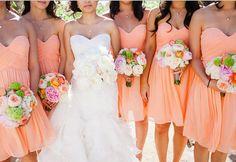 Peach Bridesmaid Dress, A-line Sweetheart Short Chiffon Bridesmaid Dress on Etsy, £54.23