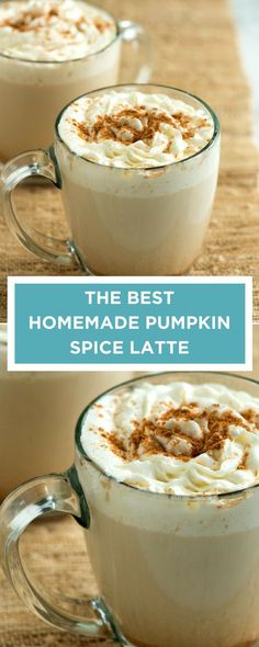How to make the best pumpkin spice latte at home with pumpkin puree, coffee, milk, and fall spices. Better than Starbucks!