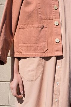caron callahan krasner jacket melon | rennes. / Blush peach / Tone on tone / Faded / Button jacket