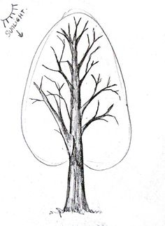 Learn to draw people for kids how to draw a tree tutorial home improvement cast members Tree Sketches, Drawing Sketches, Sketching, Trees Drawing Tutorial, Drawing Trees, Tree Drawings, Drawing Skills, Drawing Techniques, Easy Drawings