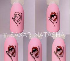 Fancy Nail Art, Fancy Nails, Cute Nails, Nail Art Designs Videos, Simple Nail Art Designs, Nail Designs, Pop Art Nails, Nail Art Stripes, Plaid Nails