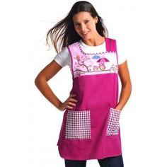 Kitchen apron For more visit our site: Vintage Apron Pattern, Aprons Vintage, Sewing Hacks, Sewing Projects, Teacher Apron, Adult Bibs, Bib Apron, Sewing Aprons, Kitchen Aprons