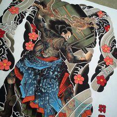 Kirenji Toko (Du Xing) 鬼膾児杜興 . For the book. #feathercloud #irezumicollective #japanesetattoosub #tatto_art_worldwide #japaneseart #shanetan #japanesecollective #tattoo #suikoden #japanesetattoo...