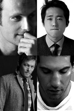The Men of TWD  oooh la la!  (4 very handsome men, once  they are all CLEANED UP).