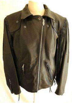Harley Heritage Springer Jacket Nos with Tag Original Leather Biker Motorcycle M #HarleyDavidson vogue luxury couture alt