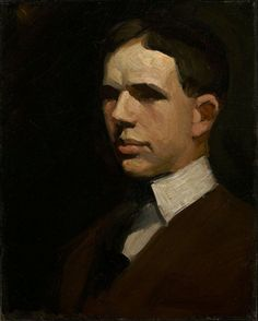 Edward Hopper. Self Portrait, [ca.1903] by Gandalf's Gallery on Flickr.