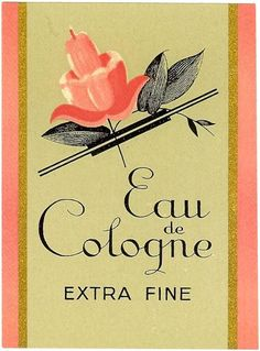 Eau de Cologne Extra Fine Original Old Label Circa 1938 France French Art Deco | eBay