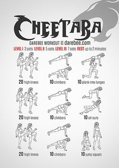 Cheetara Workout | Posted By: CustomWeightLossProgram.com
