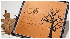 Artistic Halloween Vow Renewal Invitation