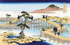 https://ja.wikipedia.org/wiki/葛飾北斎 諸国名橋奇覧「三河の八ツ橋の古図」