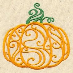 Enchanted Pumpkin_image  This would look so cute on a kitchen towel.