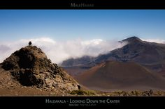 Haleakala - Looking Down the Crater - Maui Hawaii Posters Series - A scenic view of the breathtaking crater of the Haleakala Volcano - Haleakala National Park Maui, Hawaii.