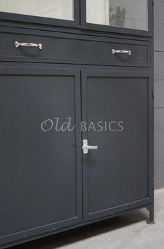 Apothekerskast Ferro 4-7021   1-1512-032   Old BASICS Bookshelves, Lockers, Locker Storage, Furniture, Home Decor, Bookcases, Decoration Home, Room Decor, Book Shelves