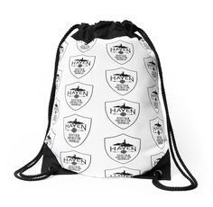 Haven Syfy Inspired Drawstring Bag | Haven Keep Calm White Badge Logo