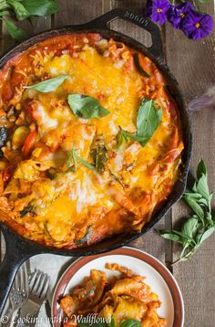 Spicy Chipotle Summer Vegetable Skillet Lasagna   Cooking with a Wallflower