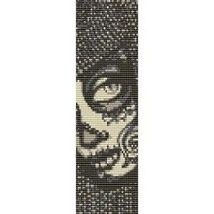 SUGAR SKULL TIMORA - beading cuff bracelet pattern for loom (buy any 2 patterns - get 3rd FREE)