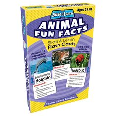 Use these flash cards to teach children how to identify insects, pets, jungle animals, sea animals, and more. Pre-schoolers learn to recognize animals and older children learn fun facts about the anim