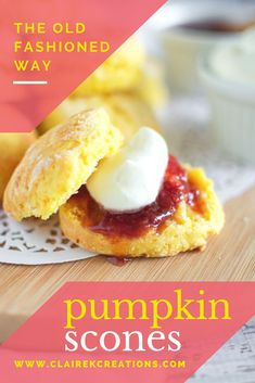 Looking for a recipe for pumpkin scones the old fashioned way (just like CWA pumpkin scones)? Stop here - no mixer required easy pumpkin scone recipe. Baking Recipes, Snack Recipes, Scone Recipes, Afternoon Tea Recipes, Pumpkin Scones, Eat Lunch, Lunch Box, Fall Baking, Pumpkin Recipes